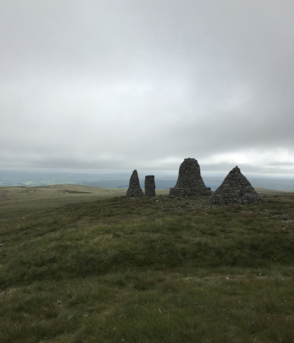 Cairns on the summit near Mallerstang, Upper Eden Valley