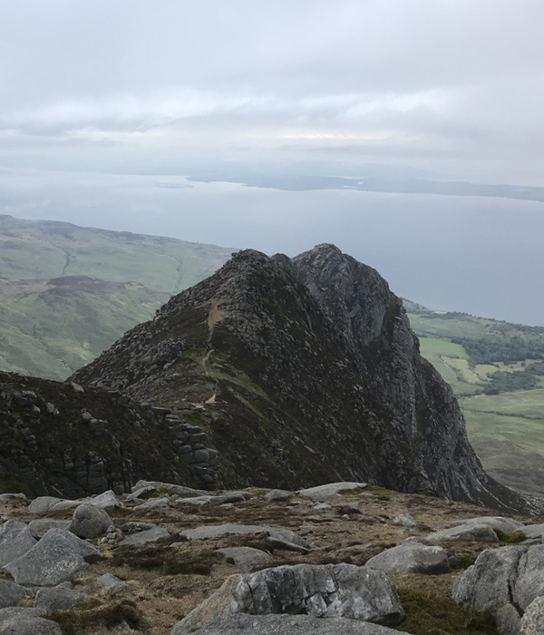 Ridge walk on the Isle of Arran, Scotland