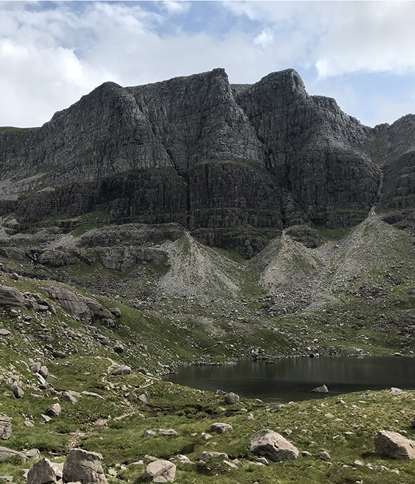 Photo of the triple buttress above Coire Mhic Fhearchair